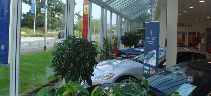 Anti-Glare Window Film at Car Dealership