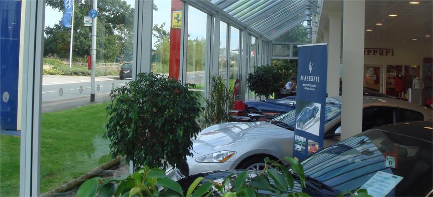 Anti-Glare Window Film at Car Dealership