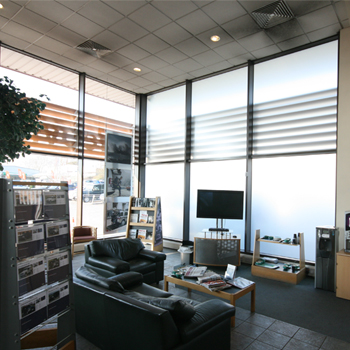 frosted window film used in offices